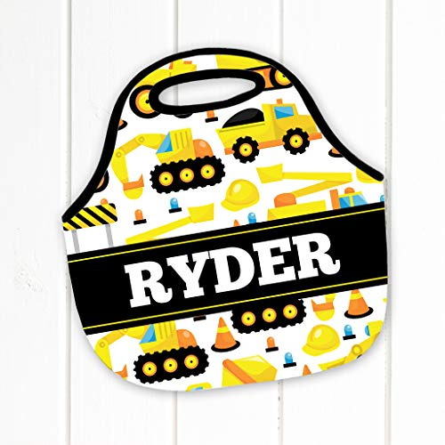 hbox, Baufahrzeuge, Lunchtasche, Rucksack, Kippwagen, Bagger, Neopren, Lunchtasche, Lunchbox ()