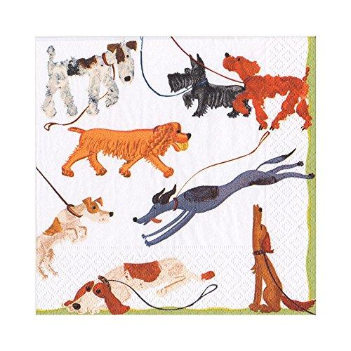 Papier-Servietten –, 3-ply, für Bastelarbeiten, 33x 33cm,–Hunde in Serie
