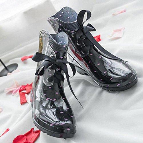 SIHUINIANHUA Lady Tube Regen Stiefel/Fliege Regen Stiefel/Wasser Schuhe Wasser Schuhe Sätze von Schuhen, 2, 38