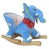 Mecedora de Elefante animal mecedora silla mecedora de juguete especial para niños Con sonido