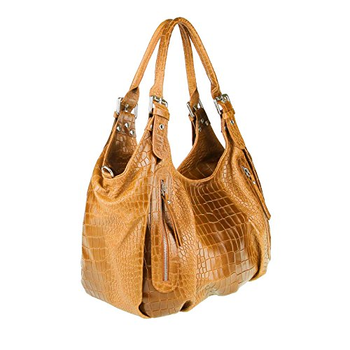 OBC Only-Beautiful-Couture , Cabas pour femme Marron Cognac 40x26x16 cm (BxHxT) Cognac