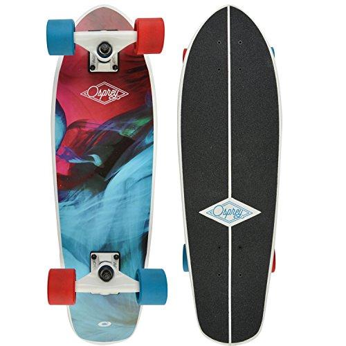 Osprey Skateboard, Longboardvon, Ahorn-Deck, Unisex, komplett, Kinder, Emulsion, Emulsion
