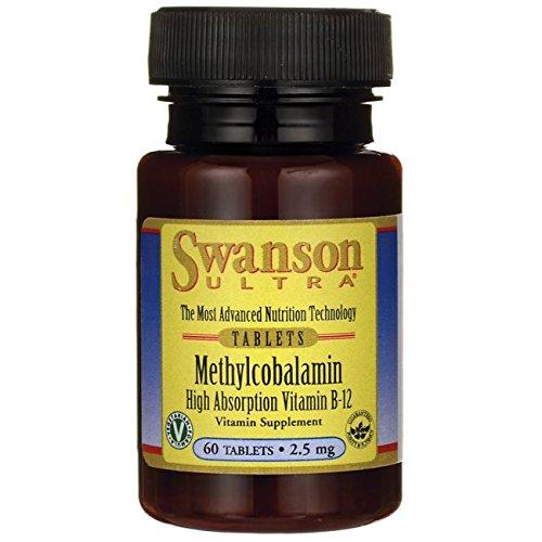 Swanson B12 Vitamine (Methylcobalamin High Absorption B-12 2.5 mg 60 Tabs)