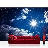Vlies Fototapete 400x280 cm PREMIUM PLUS Wand Foto Tapete Wand Bild Vliestapete - ROMANTIC STARS - Sternenhimmel Stars Sterne Leuchtsterne Nachthimmel - no. 023