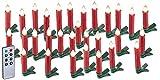 Lunartec Weihnachtskerzen: 30er-Set LED-Weihnachtsbaum-Kerzen mit IR-Fernbedienung, rot (Kabellose Christbaumkerzen)