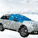 Autumn Love Copriauto Protettore Addensato Protegge Parabrezza Specchietto Retrovisore Anteriore Quasi Adatto a Qualsiasi Auto e SUV - Blu