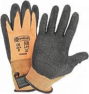 Connex COX938608 Gants avec bande auto-agrippant, Orange/Gris, Taille 8