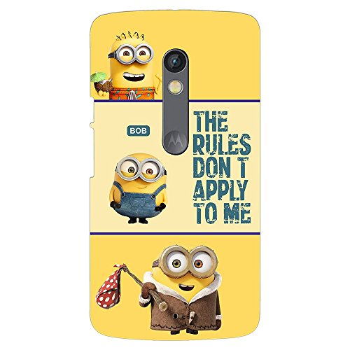 PrintVoo Despicable Minions Quote Printed Mobile Case for Moto X Play