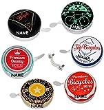 2 Stück _ große Fahrradklingeln - ' Vintage / Retro Look - Premium Bicycles ' - incl. Name - Metall Klingel - Ding Dong - Fahrradglocke / für das Fahrrad - Lenkerklingel - 50er Jahre - universal auch für Roller und Dreirad Laufrad / Erwachsenen + Kinderfahrrad - XXL Erwachsene - Kinder Mädchen & Jungen