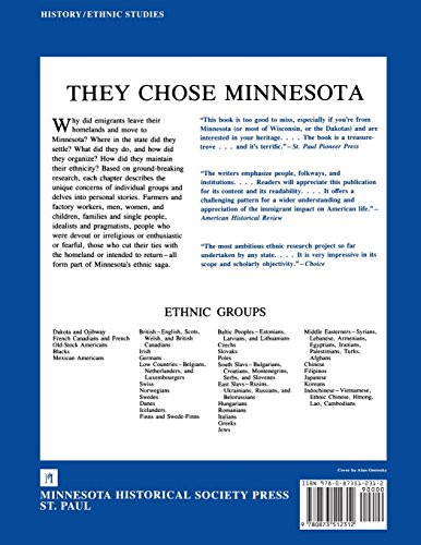 They Chose Minnesota: A Survey of the State's Ethnic Groups