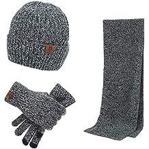 XRDSS - Ensemble bonnet, écharpe et gants - Homme 5f12a9968be