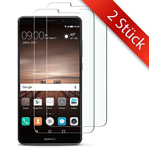 Movoja 2 STÜCK - MATE-9 Schutzfolie   0.2mm   Blasenfrei   Full HD Transparenz   Anti Fingerabdruck - Huawei MATE-9 Bildschirmschutzfolie MATE-9