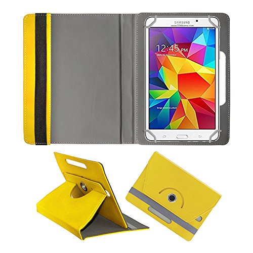 Fastway Rotating 360° Leather Flip Case For Samsung Galaxy Tab 4 T231 Tablet( 8 GB, Wi-Fi+3G) Yellow  available at amazon for Rs.369