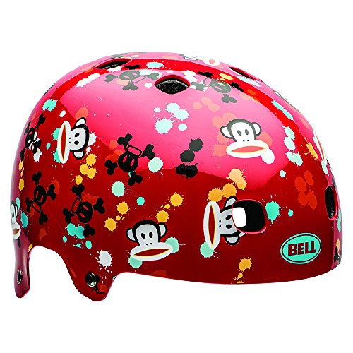Bell Kinder Fahrradhelm Segment JR Red Paul Frank Paint Ball, 51-55 cm