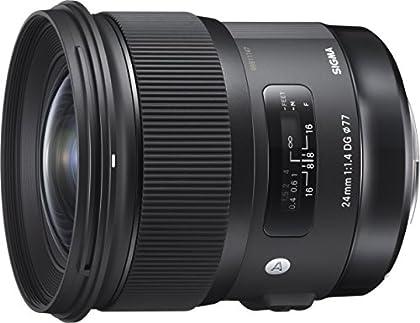 Sigma 24 mm/F 1.4 DG HSM Art - Objetivo para Nikon, Color Negro