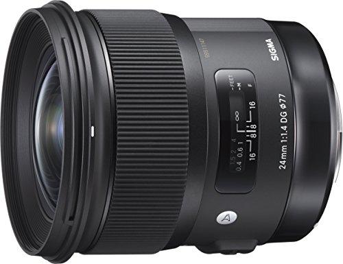 Sigma 24 mm/F 1.4 DG HSM Art - Objetivo para Canon, Color Negro
