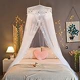 Jeteven Betthimmel Baldachin Mückenschutz Insektenschutz netz für Doppelbetten Baby Kid Kinder daheim oder für die Reise,Hohe 260cm (Weiß)