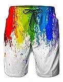 NEWISTAR männer 3D Jogger Freizeitshorts Sportshorts Kurze Hose Shorts Badehose S