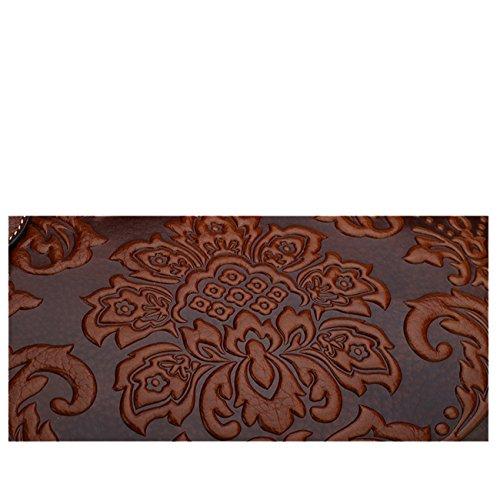 Keshi - Sac à main femmes - Porté MAIN et EPAULE cuir De Vache Brun Foncé