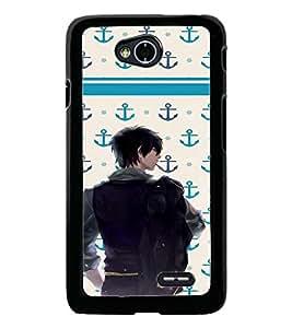 PrintDhaba Dashing Boy D-5852 Back Case Cover for LG L90 (Multi-Coloured)
