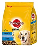 Pedigree Hundefutter Trockenfutter Senior 8+ mit Huhn, Reis und Gemüse, 3 Beutel (3 x 2,5kg)