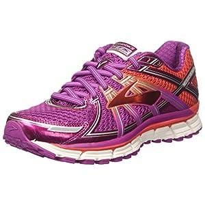 Brooks Adrenaline GTS 17, Zapatos para Correr para Mujer, Rosa (Vividviola/Bittersweet/fusioncoral), 35.5 EU