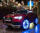 Audi RS 5 - XXL Kinderauto Elektroauto Kinderfahrzeug E-Auto - LED, Leder, Fernbedienung, Akku, Cabrio Verdeck - Rot-Metallic
