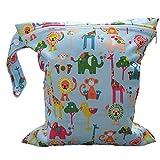Jungen Windelbeutel Babytaschen Wasserdichtem wiederverwendbare Stoff Windel Tasche, Wasserdichte Reißverschlusstasche Baby Tuch Windel Schwimmbeutel