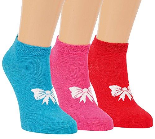 Vitasox 21235 Kinder Mädchen Sneaker Socken Sneakersocken Baumwolle mit Komfortrand einfarbig ohne Naht 6er Pack 27/30
