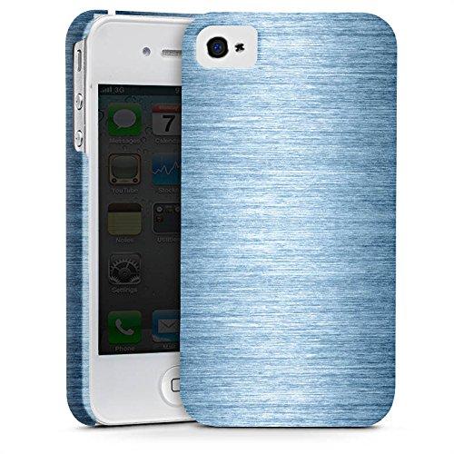 Apple iPhone X Silikon Hülle Case Schutzhülle Metall Look Metal Look - Indigo Premium Case glänzend