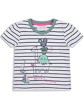 The Essential One - Baby Kinder Mädchen T-Shirt - WeiB/Marineblau/Grun - EOT319