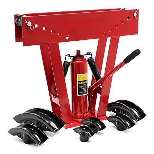 WilTec Cintreuse hydraulique 12t Presse à cintrer Plier Machine Tube Chauffage Automobile Tuyau Universel