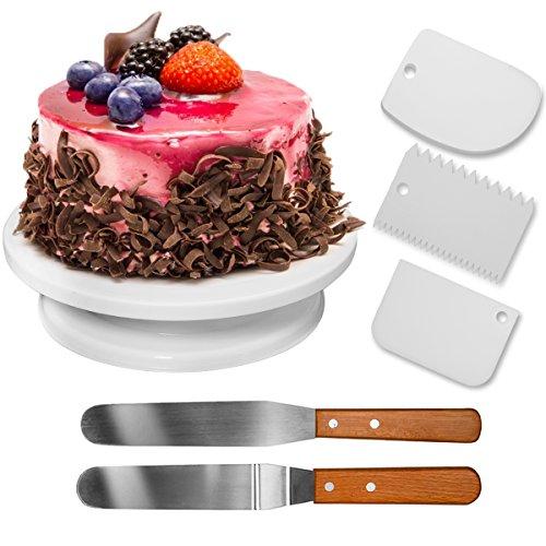 Descripción del producto:★ Fácil y rápido para hacer pastel de hielo. ★ La superficie helada del soporte de la torta del plato giratorio, guarda la torta de caer apagado. El soporte de la torta es elegante y la manera con diseño delicado del aspecto....