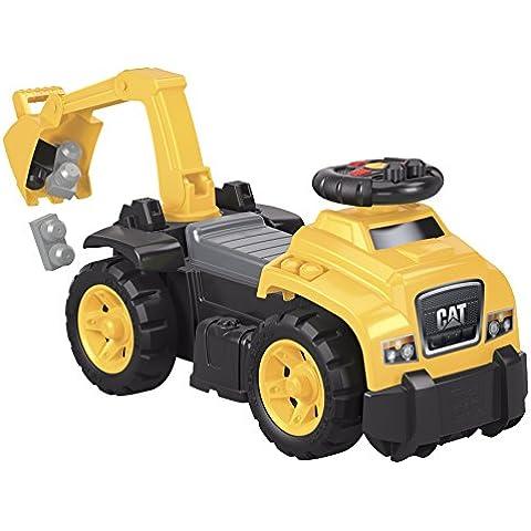 Mega Bloks - Correpasillos excavadora, first builders, juego de construcción (Mattel DCH13)