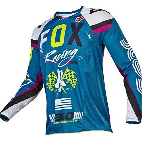 Fox 2017 Herren Motocross / MTB Jersey - 360 ROHR - teal: Größe Jersey: L