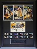 Cast Signed Back to the Future large Filmcell, holographic serial numbered. Signed by Michael J. Fox & Christopher Lloyd