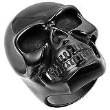 JewelryWe Bague Cool Grand Crâne Gothique Tête de Mort en Acier Inoxydable Anneau pour Homme Noir #12 Taille de Bague 67.5