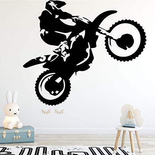 Bfmbch adesivi murali moto stuntman decorazioni per la casa soggiorno camera dei bambini camera da letto cameretta decorazione adesivi decalcomanie adesivi murali casa viola l 43cm x 52cm