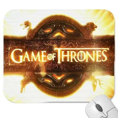 A Game Of Thrones #3 Mouse Mat with a picture of the Game of Thrones Logo Premium Quality Thick Rubber Mouse Mat Pad Soft Comfort Feel Finish