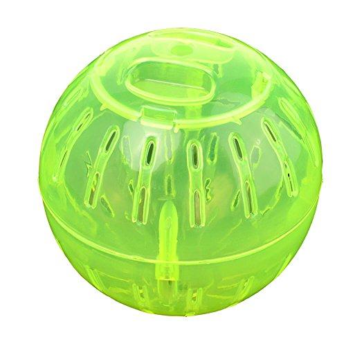 GOOTRADES 5 Stk Mini Pet Nagetier Mpiäuse Joggen Hamster Rennmaus Ratten Spiel Plastik Selzeug Übungsball - Durchmesser 9.5 cm