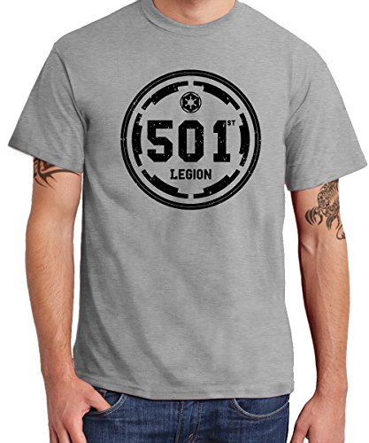 - 501st Legion - Boys T-Shirt Sports Grey, Größe (501st Kostüm)