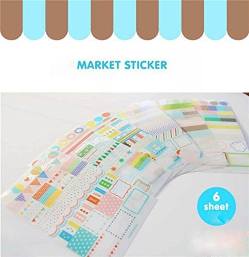 Tagesbuch Dekoration Emotionen Sticker Set Etiketten DIY Deco Scrapbooking