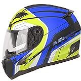 Nitro N2300 Pioneer Motorcycle Helmet - Black, Blue, Yellow, White M