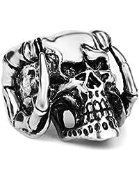 Los hombres de moda EVBEA joyas del motorista del cráneo gótico de la declaración de los anillos anillo de peluche Demon mikaze cerca de anillos