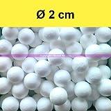 Juego de 100 pequeñas bolas poliestireno diámetro 2 cm 20 mm acc8b23f7182b