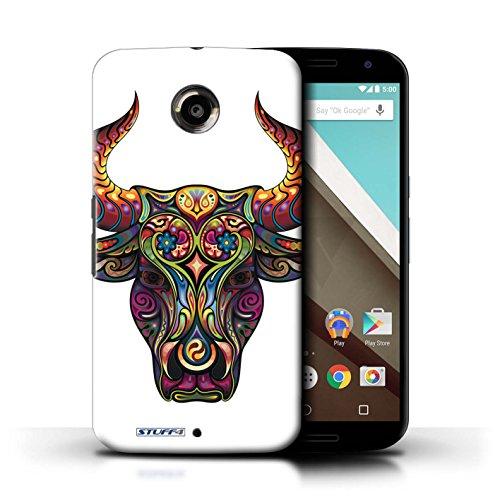 Kobalt® Imprimé Etui / Coque pour Motorola Nexus 6 / Papillon conception / Série Animaux décoratifs Taureau