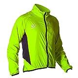 Optimum - Giacca da ciclismo da uomo, verde fluo, L