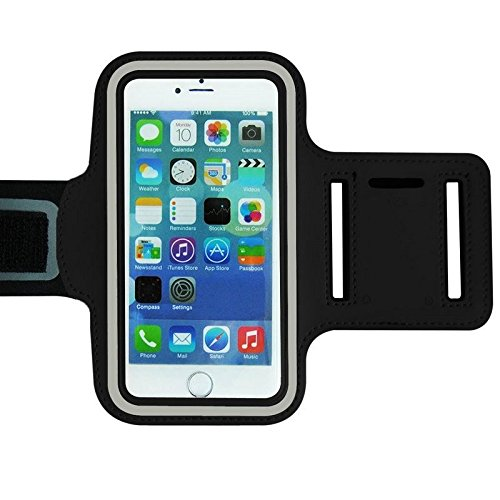 King of Flash Black Extra Large Universal Fitting Mobile Phone/MP3 Player Jogging Running Sports Armband Cover Case For 5.7