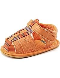 Huhua-Baby Sandal Sandals for Boys, Sandali Bambini Rosa Hot rosa, Arancione (Orange), 12 EU