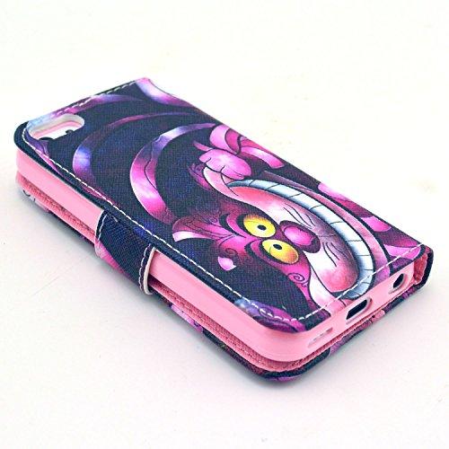 MOONCASE iPhone 5C Case Motif Conception Coque en Cuir Portefeuille Housse de Protection Étui à rabat Case pour iPhone 5C P07